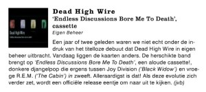 review Rif Raf Dead High Wire EP